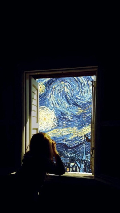 art van gogh starry night dark grunge upload