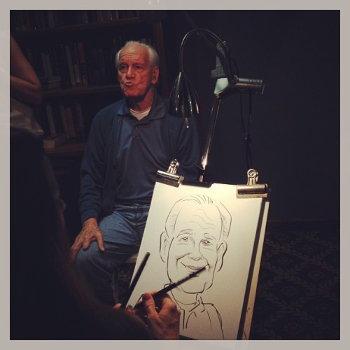 Now I'm the caricature artist's assistant! #redday  (at The Palace at Kendall - Senior Living)