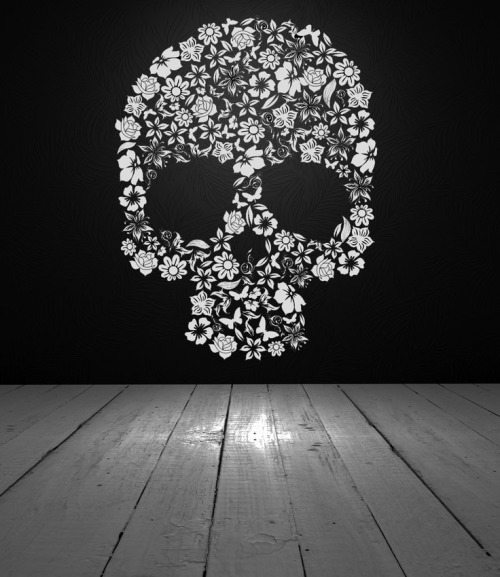 flower skull on Tumblr