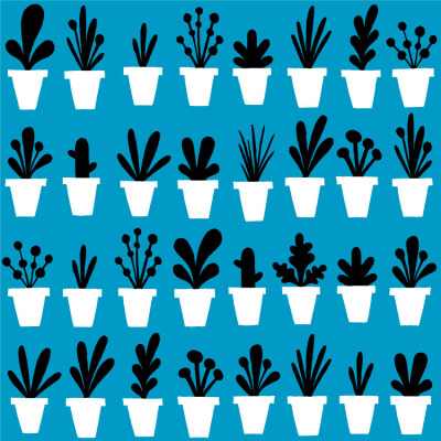 benjavens:  Plant Pot Repeat Pattern