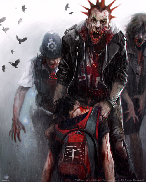shewhoiswolf:  ZombiU IG mag cover art by morganY