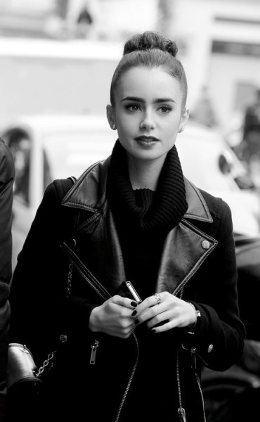 hauteinnocence:  Lily Collins in Paris, France