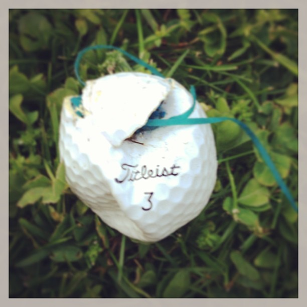 #smashed #golf #golfball