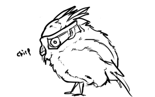 the-psychotic-biotic:  i got bored so i doodled garrus as a fat bird ccccccccccalibrations