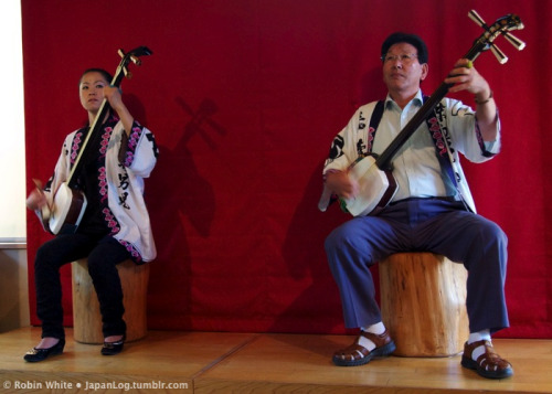 Shamisen Duo From the same performance as the pic I posted yesterday. Hirosaki, Aomori, Japan. August 2012