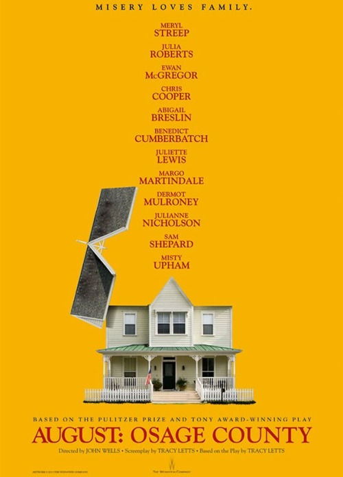 broadwaycom:  AUGUST: OSAGE COUNTY's new movie poster blows the roof off the Weston family  *HNNGGG* #Thanksgiving2013