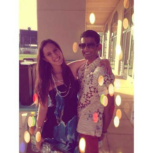 my hawaiian princess💕 #friends #drunk #luau #hawaiian #fijian  (at Santa Clara University - Locatelli Center)
