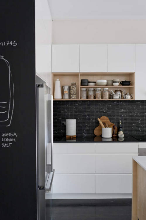 chalkboard in the kitchen (via desire to inspire)