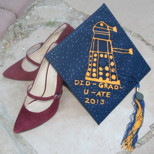 believesinponds:  My mom's actual graduation cap from this weekend because I have the coolest mom on the planet in the universe.