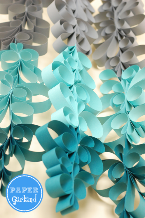 superslyskillzmcfly:  Anthropologie inspired paper scroll garland. This sounds incredibly easy to do and you get so much impact from it! This would look great for any holiday, birthday or season depending on the colors. I'm definitely going to make this in April for my daughter's birthday.  [tutorial]