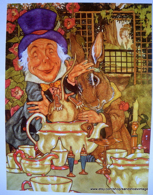 alicismo:  Illustration by Michael Hague.  The Hatter looks kindlier than usual.