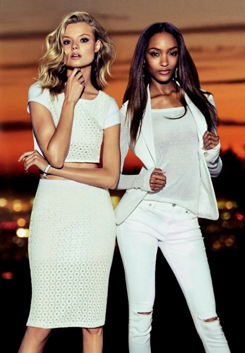 Magdalena Frackowiak and Jourdan Dunn for Express Spring 2014 Ad Campaign