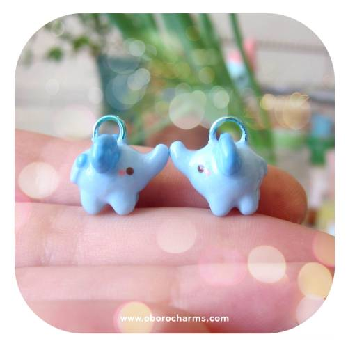 New blue elephant charms just added to the shop! Available here: http://www.oborocharms.com/collections/Animal