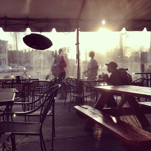 Sunset at Alamo BBQ #bbq #rva #churchhill (at Alamo BBQ)