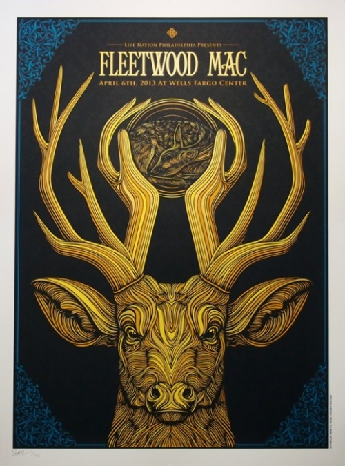 A seriously dope poster for a Fleetwood Mac Show last month by Todd Slater