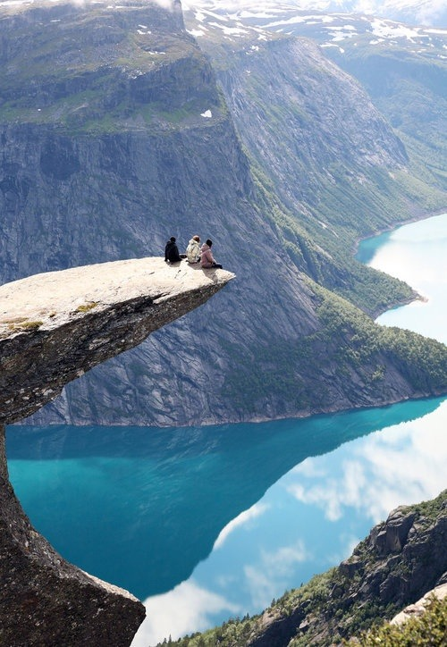 bluepueblo:  On the Edge, Trolltunga,  Norway photo via grace