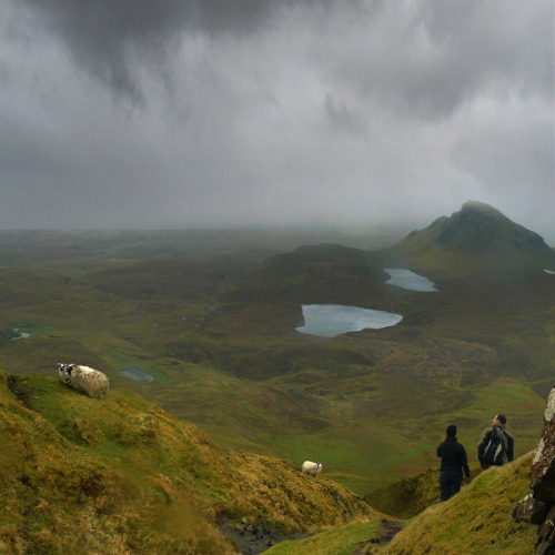 eveningstarr:  Alone with the rain and sheep on Isle of Skye (by B℮n)