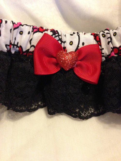 Custom Hello Kitty Bridal prom or wedding garter by 2Marys (20.00 USD) http://ift.tt/1bzvEHQ
