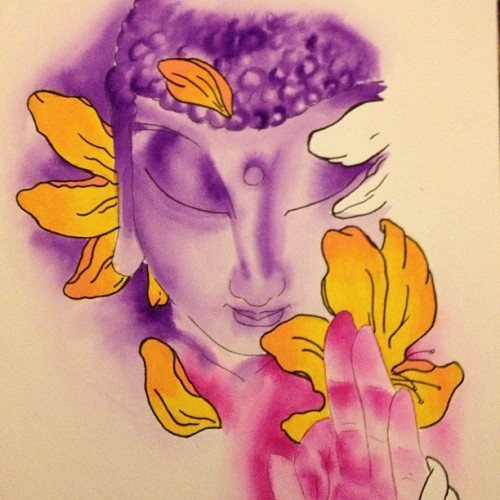 Buddha - Meditation. Fore #sale #buddha #art #watercolor #archerpaper #grimmartworks $35 + shipping.