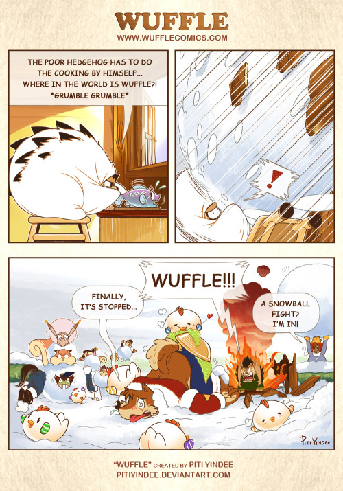 """Wuffle Year 1 : Finale""  The final comic of Wuffle year 1 is here! Hoorayyy!!! And Wuffle Year 2 will continued on this Valentine's day! XD  Now buy the book! : http://indiegogo.com/wuffleyear1  Thank you for reading ^3^  - Piti Yindee"