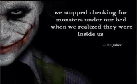 The Joker on monsters.