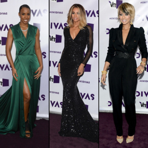 Kelly Rowland, Ciara, & Keri Hilson on the VH1 Divas Purple Carpet.