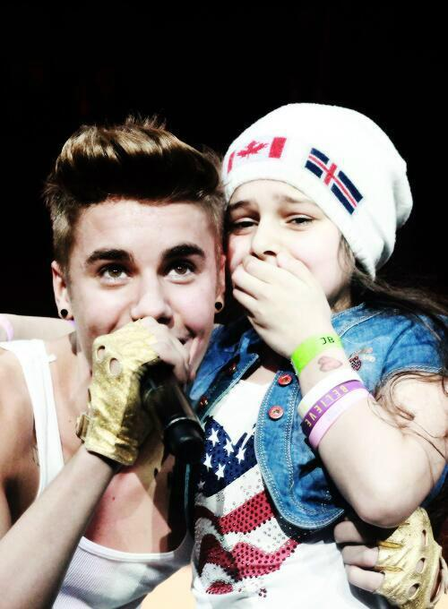 Biebs and an adorable lil fan