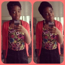 OOTD A little bit of Sun comes out and out comes the florals and bright colours!☀🌸🌼🌺🌻 #picstitch #all_shots #blogger #dress #fashion #florals #fashionoftheday #happy #igers #iphone5 #iphonesia #iphoneonly #jj_forum #likeitup #naturalhair #ootd #pastel #coral #roses #rainbow #style #sun #statigram #ukig #personal #wiwt