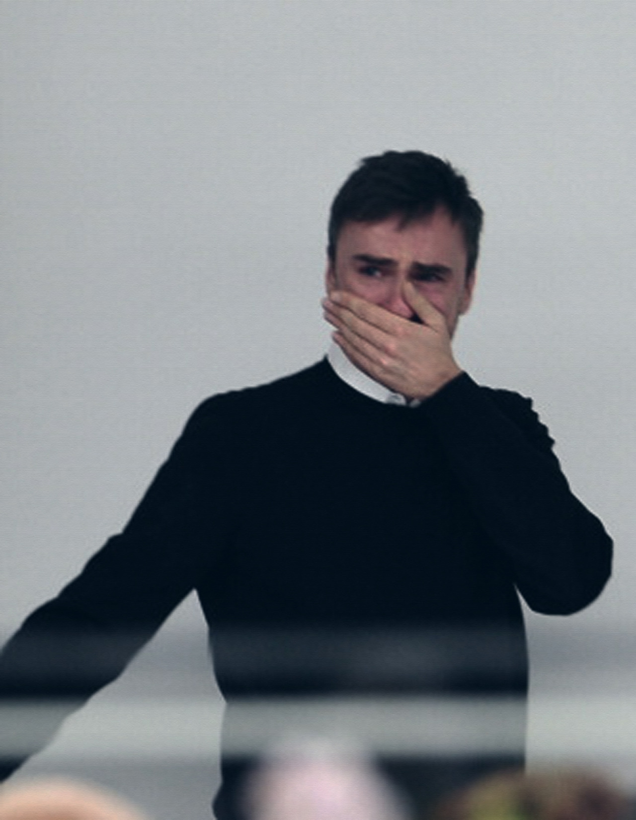 snvvy:  Raf Simons crying at Jil Sander FW 2012  <3