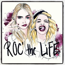 iamcaradelevingne:  @ritaora We are lucky to live, we might as well rock it! By @pepiart