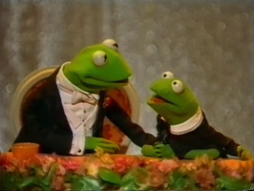 "loversdreamersandyou:  ""Uncle Kermit, what's your favorite thing about the Muppets?"" ""Well ya' know, Robin, there are times when the Muppets aren't funny."" ""Yeah, but I always figured that was the writers' fault."""