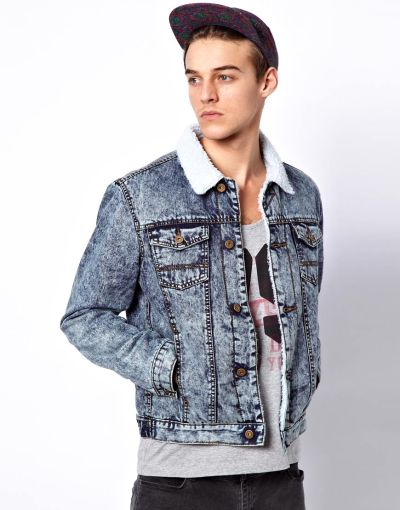 wantering:  ASOS Denim Jacket with Borg Collar