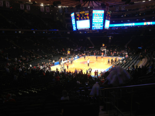 Dreams come true. Cavs at Knicks.