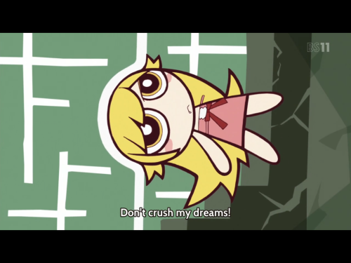 random powepuff girl art in Nekomonogatari