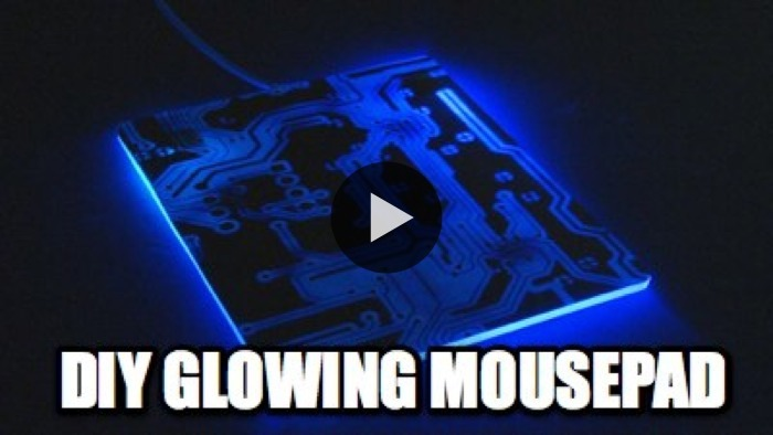 Make a glowing mousepad that lights up your gaming action (or you know, just your tumblr-ing action too)… Kipkay has a video tutorial to show you how! WATCH NOW ON BLIP: DIY Glowing Mousepad