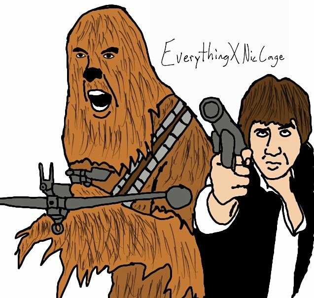 everythingxniccage:  Han and Chewie X Nic Cage