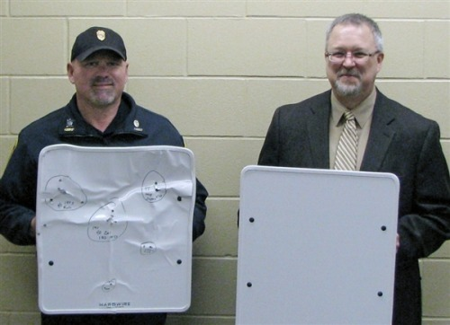 Minnesota school district gets bulletproof whiteboards (Photo: Mike Austreng / Cold Spring Record via AP) COLD SPRING, Minn. — A Minnesota school district where two students were killed in a 2003 shooting unveiled a new device Tuesday aimed at adding a last-ditch layer of safety for teachers and students: bulletproof whiteboards. Read the complete story.