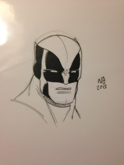 Wolverine sketch by Nick Bradshaw for my 'Lil Cap.