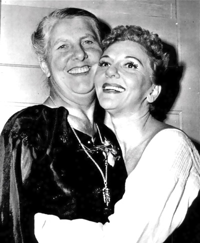 operaqueen:  Maria Von Trapp and Broadway's Maria, Mary Martin. The Sound of Music, 1959.