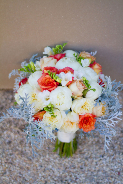 Blue + Orange Sonoma Wedding