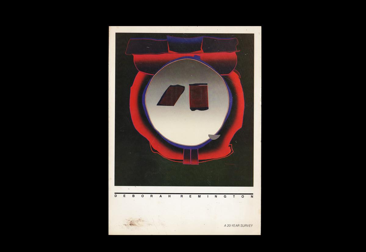 82.Schimmel, Paul. Deborah Remington: A 20-Year Survey. Newport Beach: Newport Harbor Museum, 1983. #informational#1983#art#deborah remington#paperback#spreads#paintings