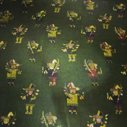 Graphic figure pattern textile artifact @ American Museum of Natural Science New York, 2008. #ilovenyc #newyork #nyc #museum #ink361 #instagood #instadaily #photooftheday
