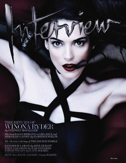 winonaforever:  The Return of Winona Ryder - May 2013  I knew a magazine issue was coming from her. I felt it today, it had to. Fuck yes, I'm in heaven. Reblog if you're with me:)