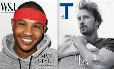 WSJ. men's issue cover // T men's issue cover