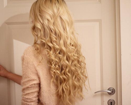 Tight curl perm long hair