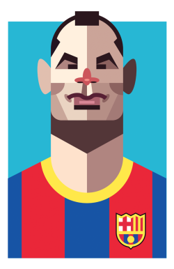 Andres Iniesta Prints Available here: http://society6.com/DanielNyari