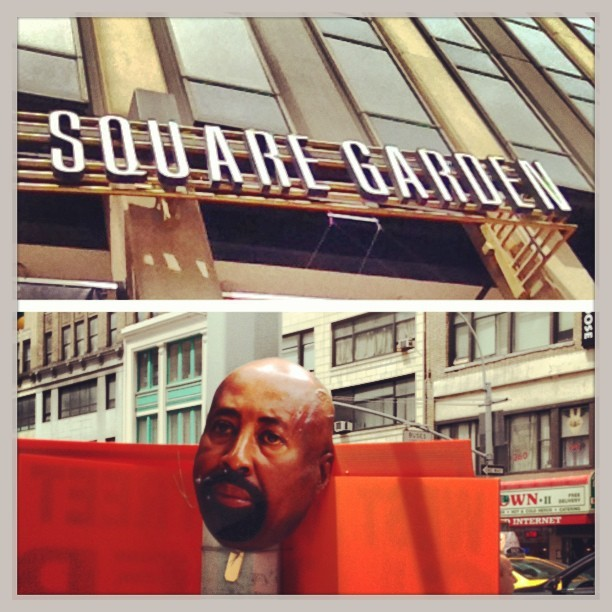 #nyc #nyk #knicks #knickstape #mikewoodson #picstitch (at Madison Square Garden)