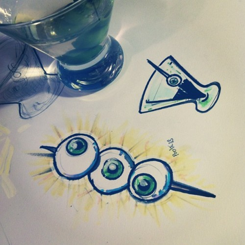 More art. #illustration #ink #martini #eye
