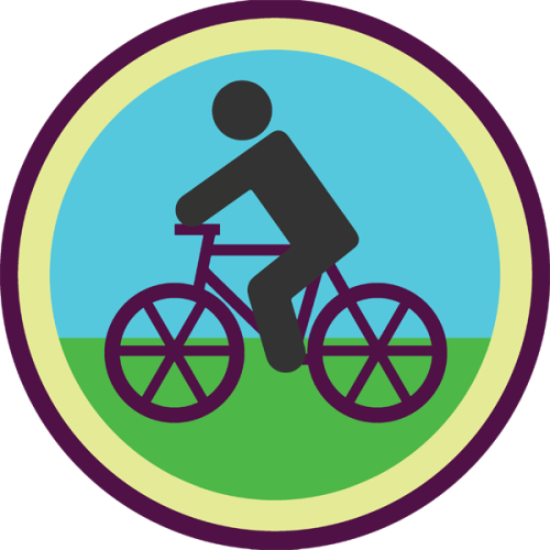 lifescouts:  Lifescouts: Bike-Riding Badge If you have this badge, reblog it and share your story! Look through the notes to read other people's stories. Click here to buy this badge physically (ships worldwide). Lifescouts is a badge-collecting community of people who share their real-world experiences.  I actually didn't do this for quite a while. Most of the kids I knew could ride a bike by at the latest around 3rd grade, most earlier than that. Personally I learn to ride over the summer before 5th grade because I realised that we had to do bike ed in 5th grade and I didn't want to be the loser who couldn't ride a bike. I didn't even get my parents to teach me, I mean I did but ultimately it wasn't them who got me there, my neighbour and probably my best childhood friend actually taught me to ride a bike, which I think is pretty cool