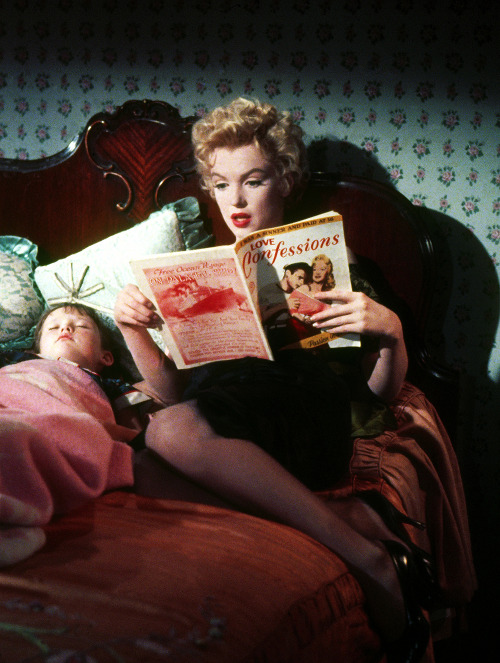 clarabows:  Marilyn Monroe in a deleted scene from Bus Stop, 1956.